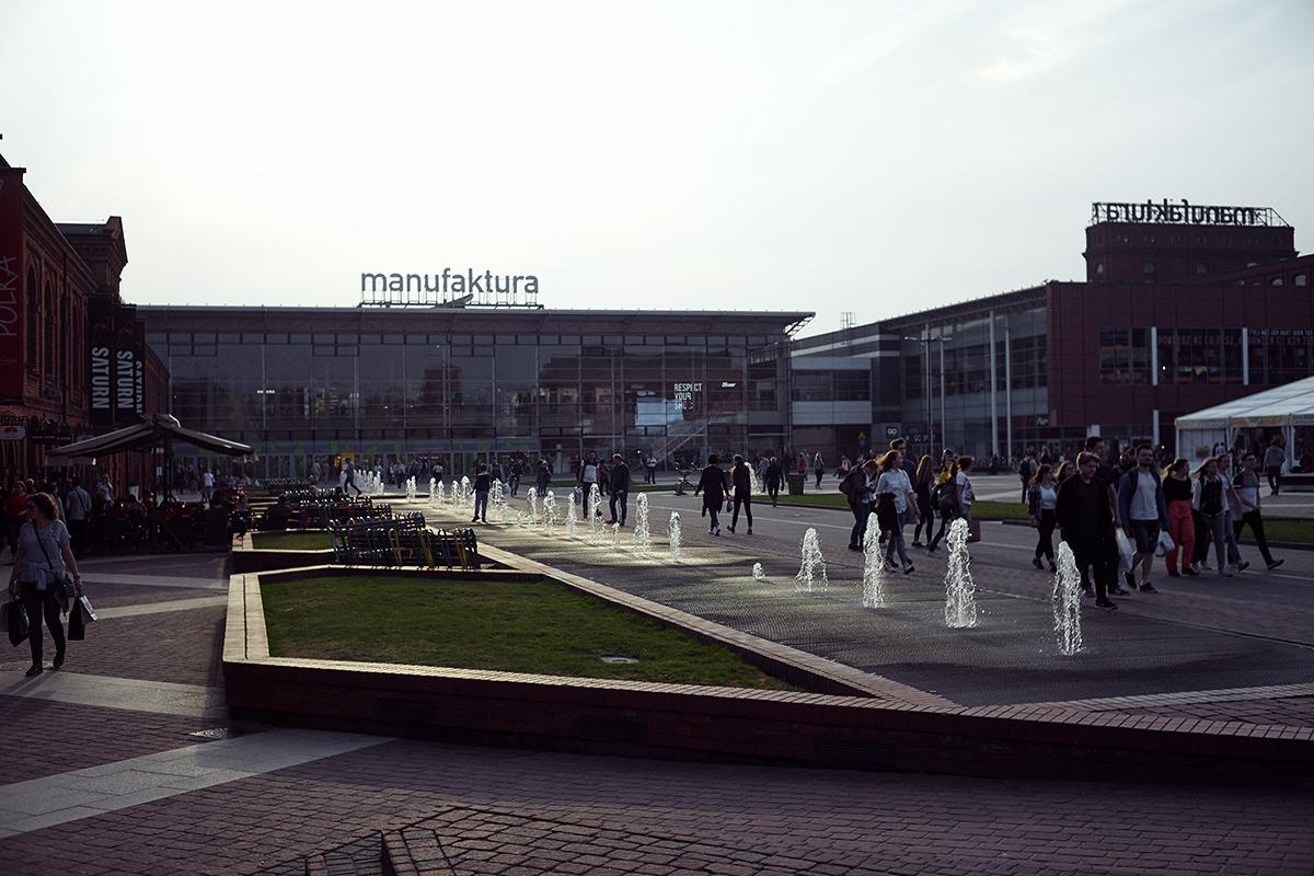 Manufaktura w Łodzi - fontanny