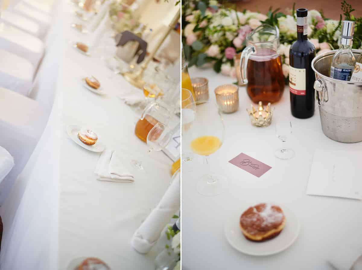 pączek na deser weselny