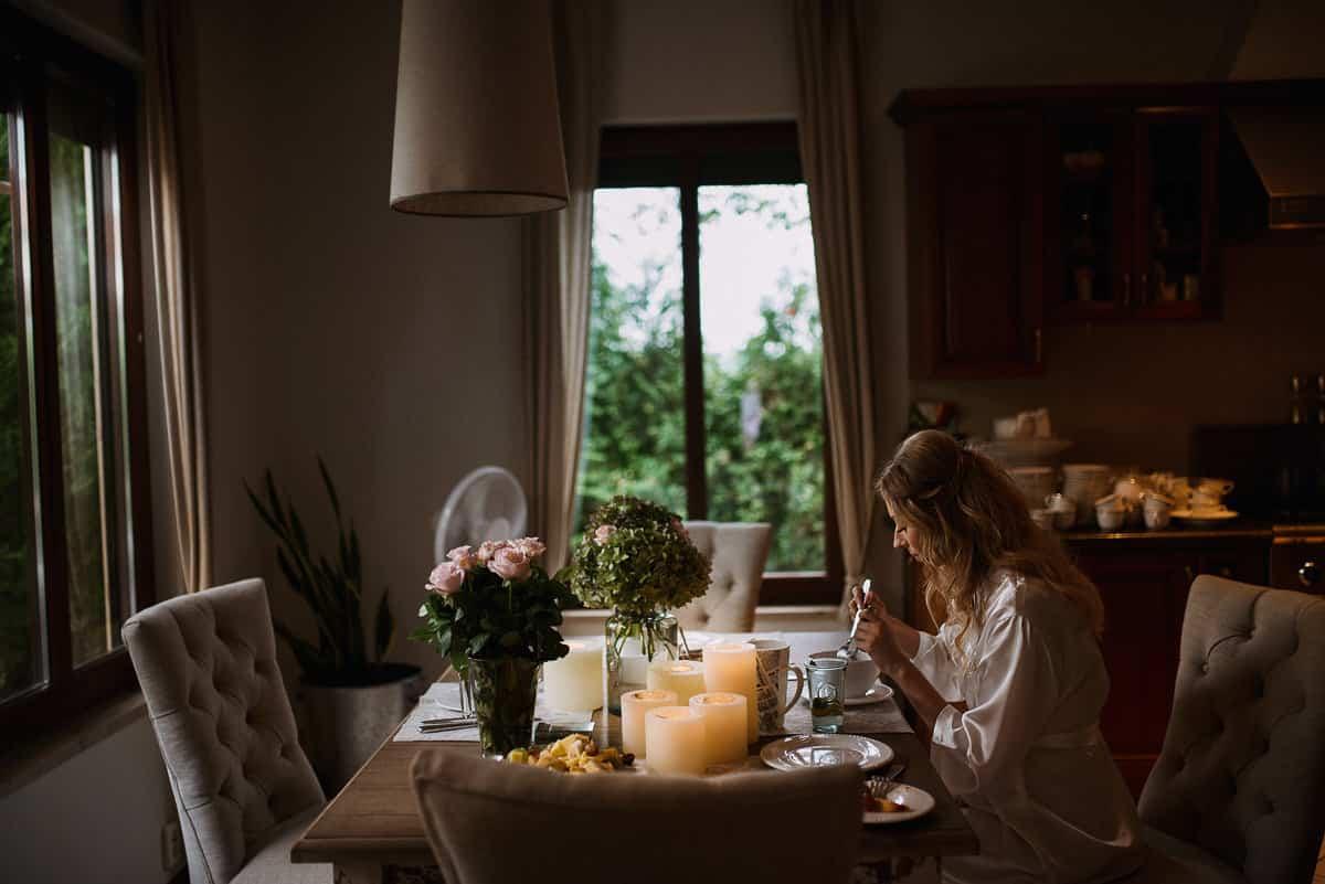 pamiętaj o śniadaniu przed ślubem