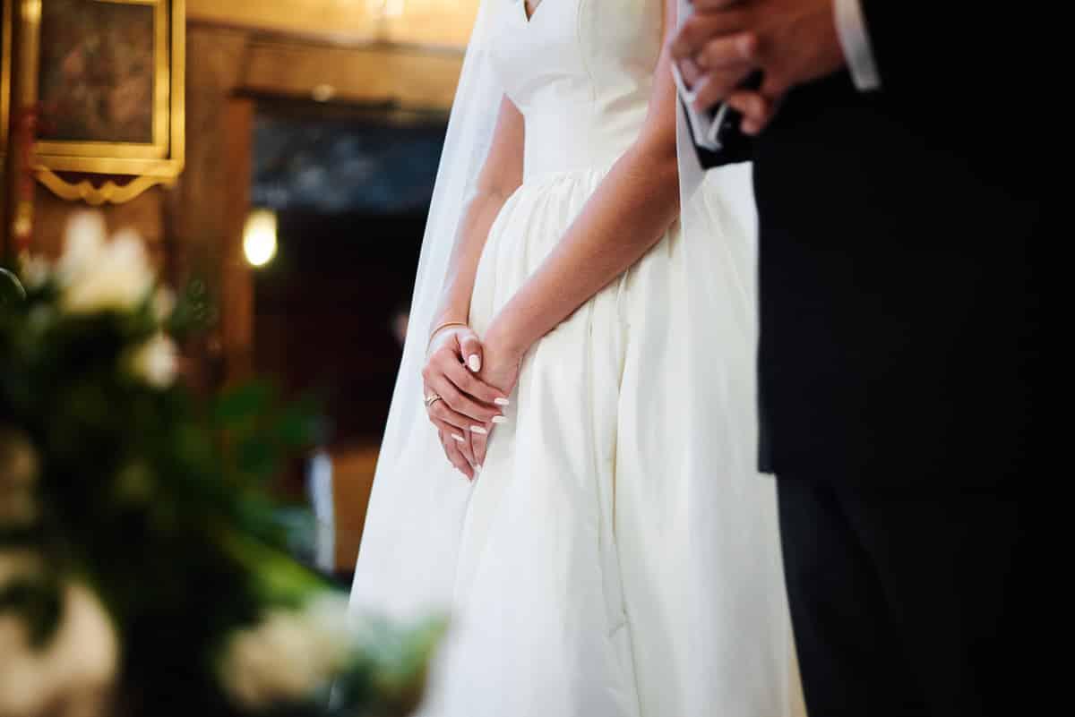 obrączki ślubne detal