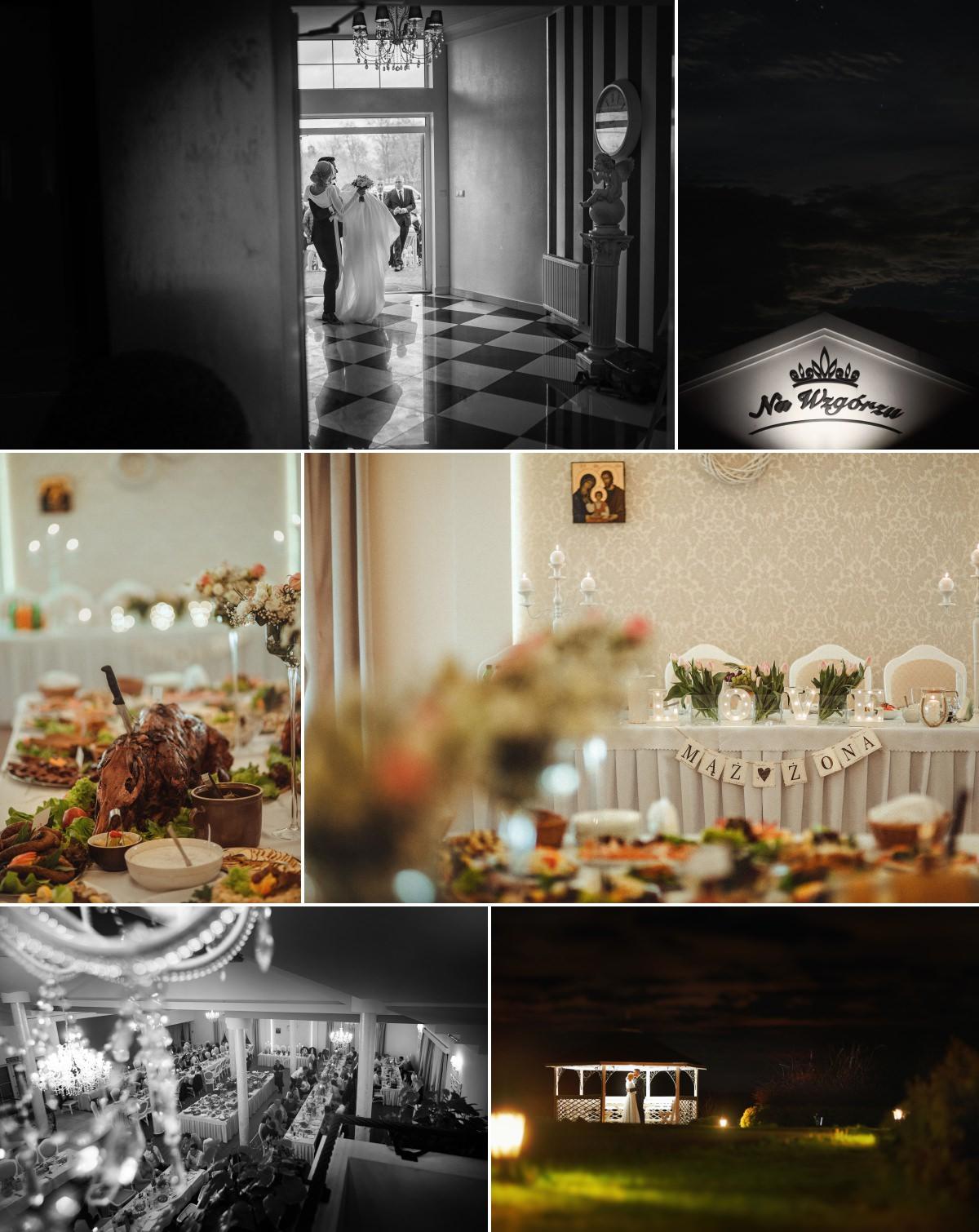wesele w domu weselnym na wzgórzu w grudnej górnej
