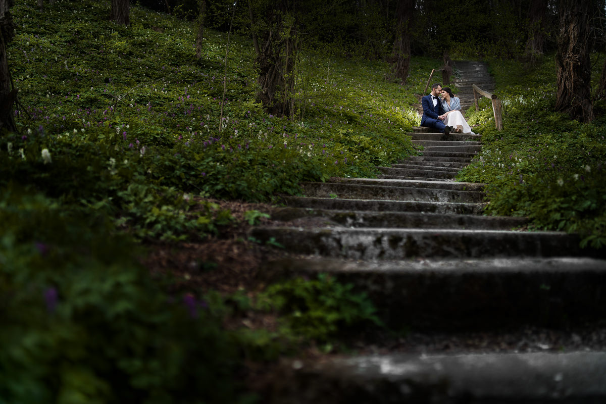 arboretum bolestraszyce sesja na schodach