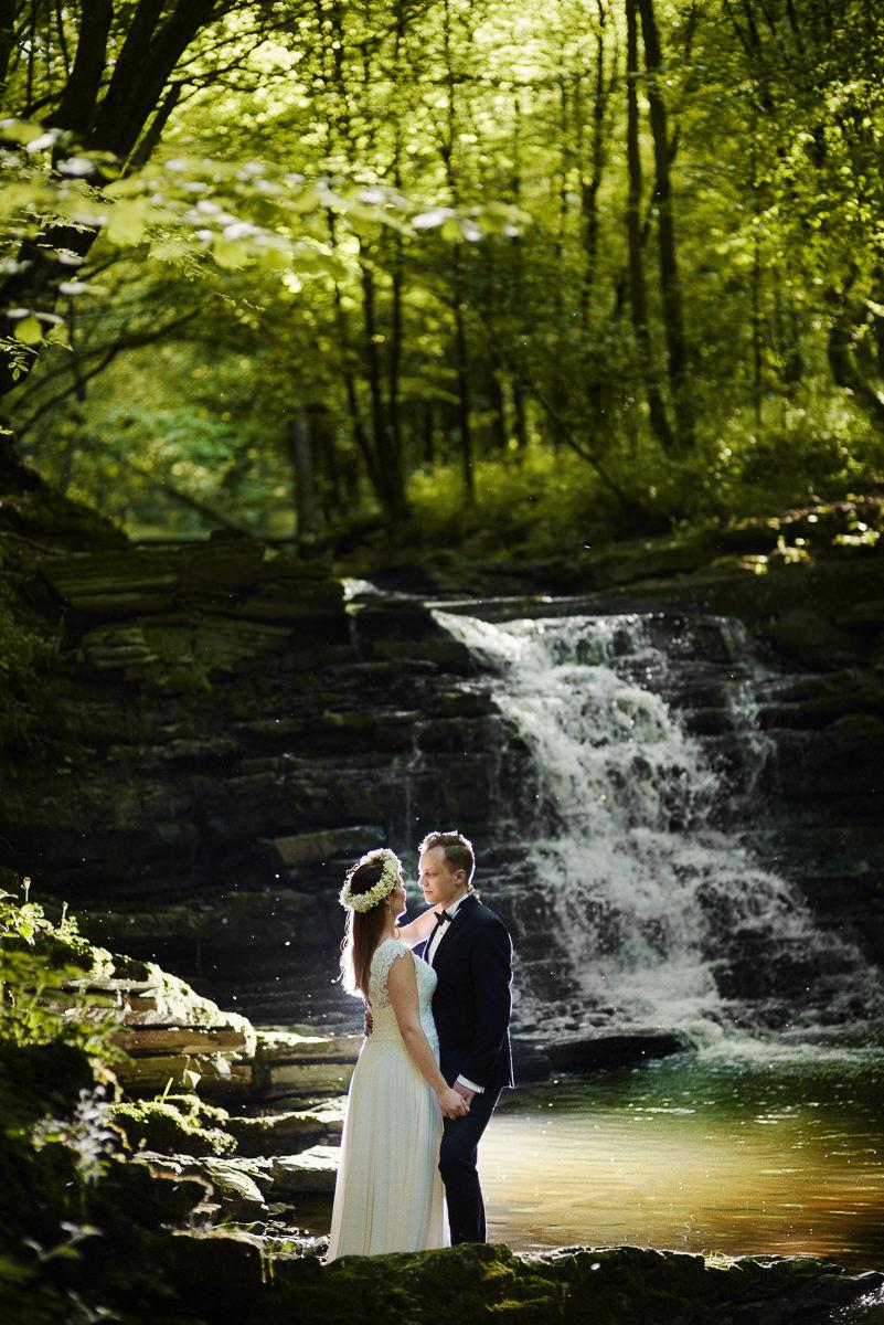 sesja ślubna podkarpacie wodospad wisłoczek