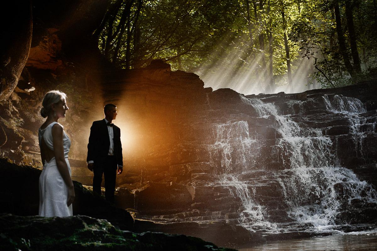 wodospad wisłoczek na sesję ślubną