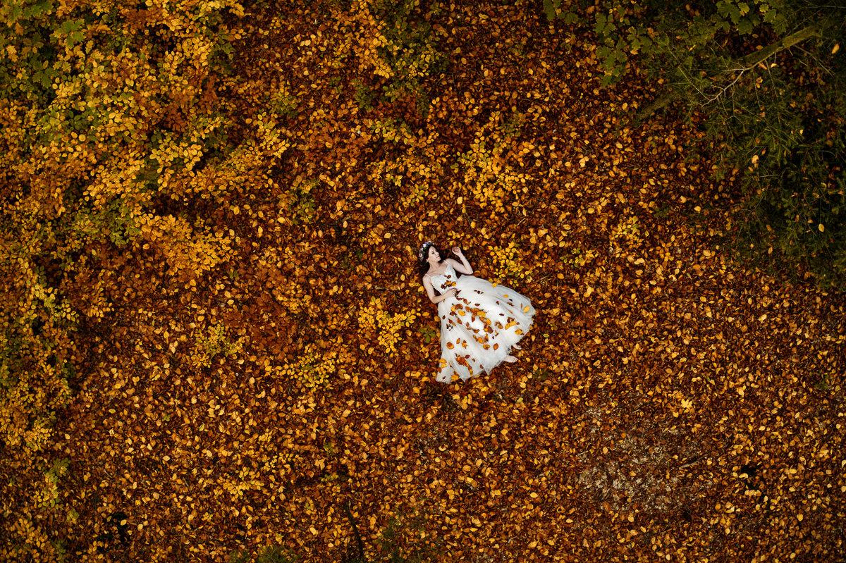jesienna sesja z lotu ptaka