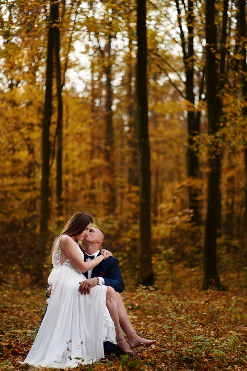 sesja w jesiennym lesie