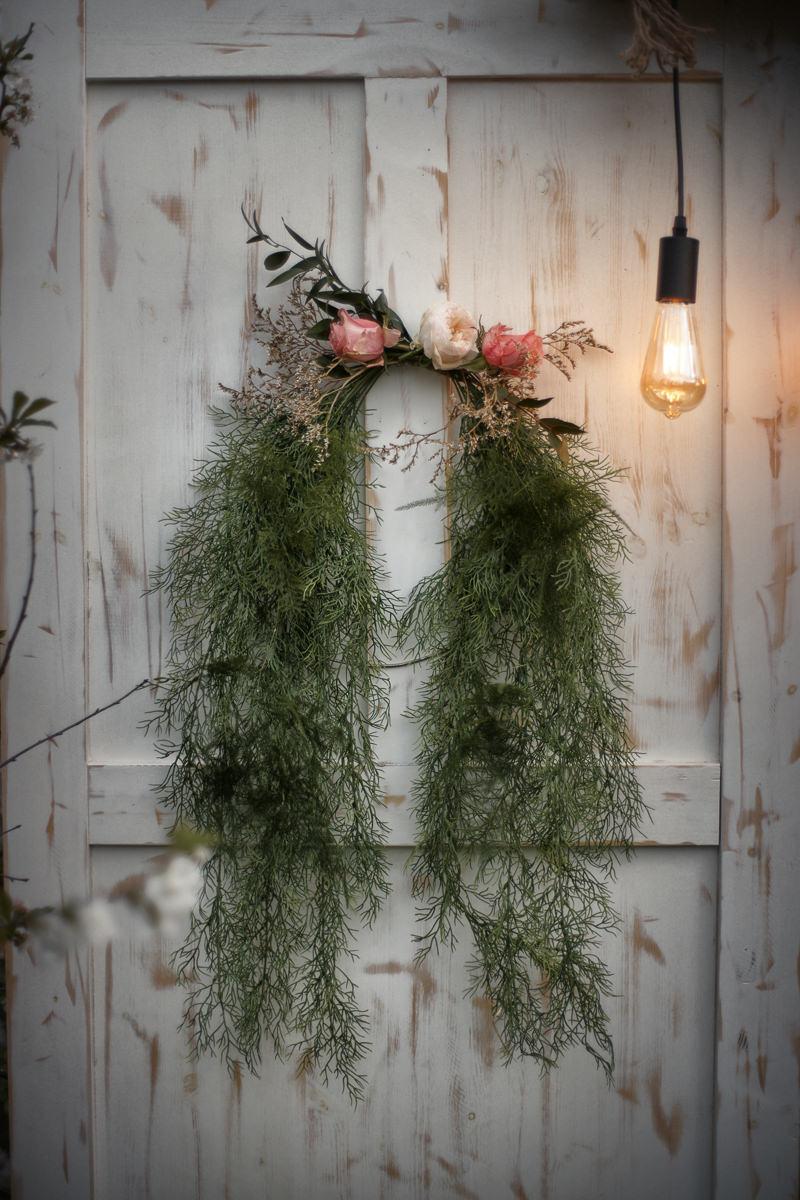 dekoracje na ślubnej sesji stylizowanej