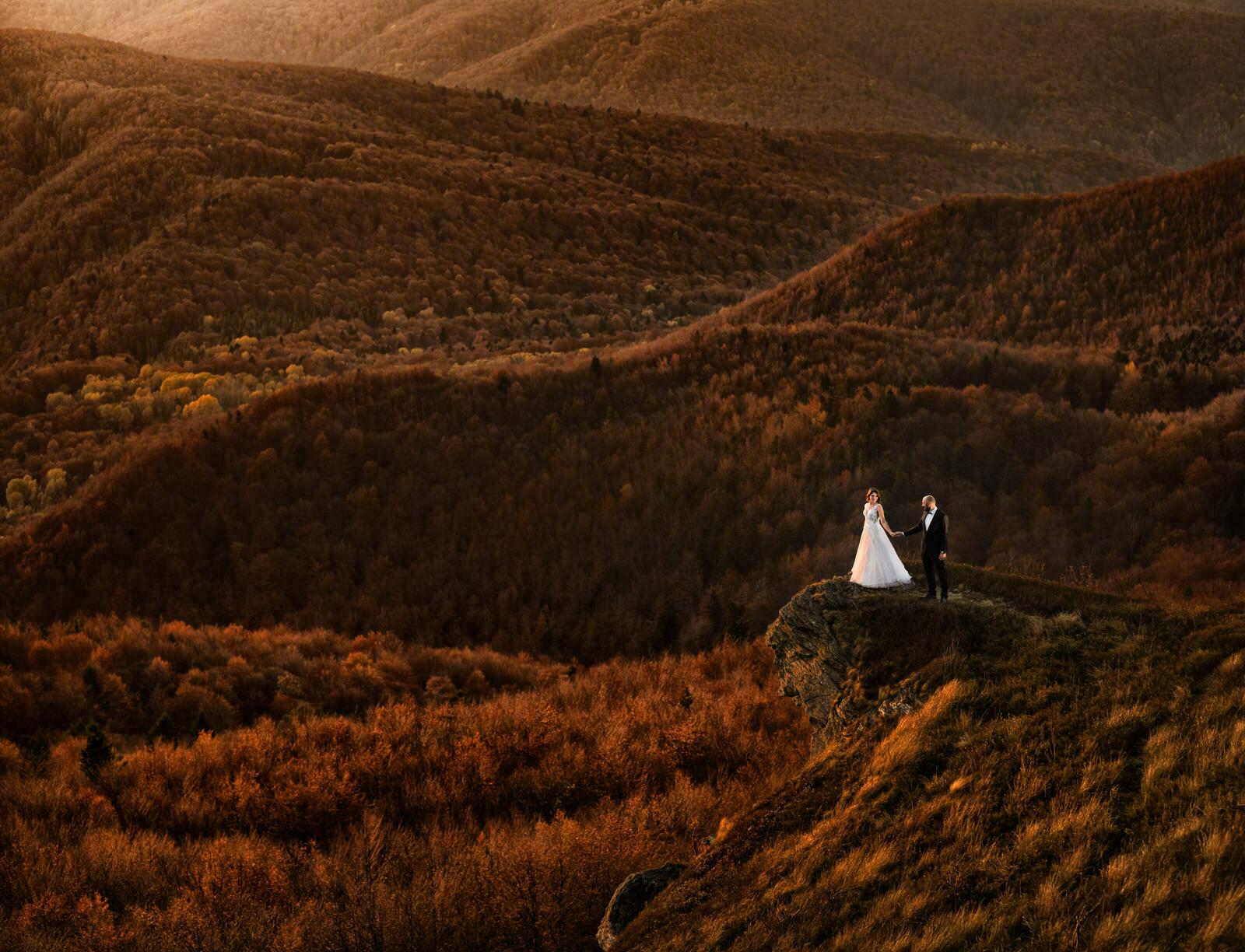 fotograficzna sesja ślubna w Bieszczadach na podkarpaciu